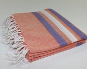 Premium Turkish Peshtemal Fouta Beach Spa Pool Towel Pareo Sarong Hammam Stripe Beach Towel