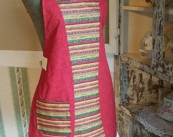 Jewel Toned Apron with Media Pocket and Towel Loop