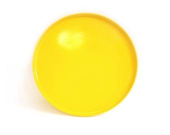 "9 Available - Heller Dinner Plates Yellow Massimo Vignelli Stackable Melamine Modern Plastic 9.75"""