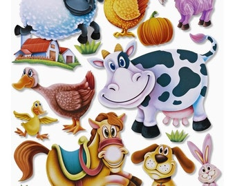XXL Stickers, Farm, 3D, 1 sheet  (296)