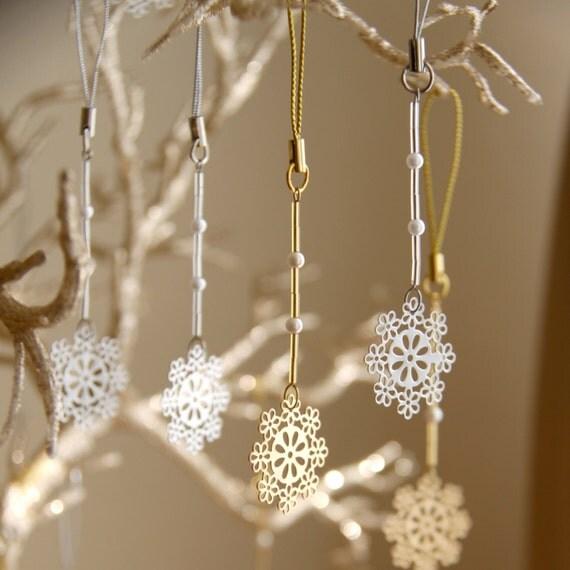 winter wedding handmade favors snowflake wedding favor set