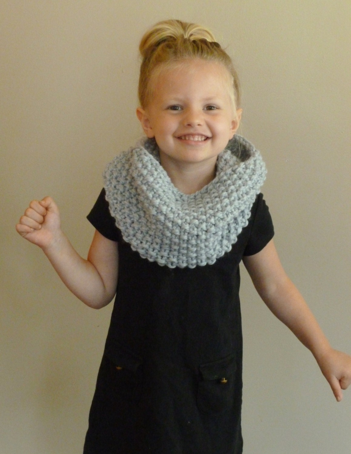 Hand Knit Toddler/Kids Cowl CHOOSE COLOR Children's Seed