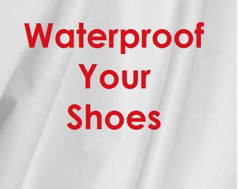Waterproof your Shoes! Add Hidden Layer of PUL, Baby Booties, Toddler Shoes, Boots