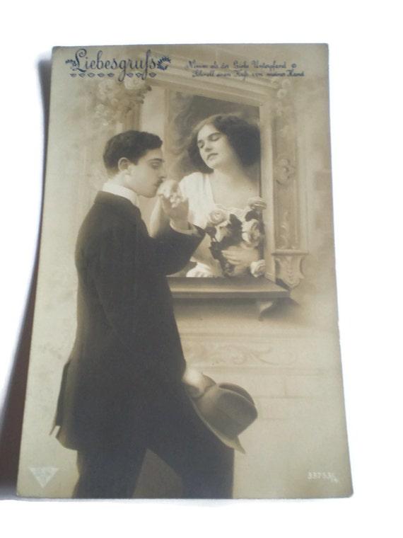 Vintage German Postcard . 1910's Postcard . Romantic ...