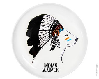 Indian Summer Wall Hand Illustrated Plate