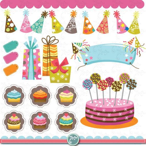 Cake Art Baner : Birthday party clip art