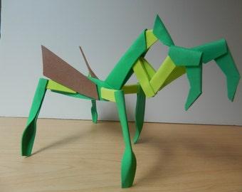 Foamcraft Praying Mantis, Foam Sculpture, Animal Figurine