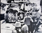 Swinger Teen Hipsters drag race racing 1967 Polaroid Print Ad