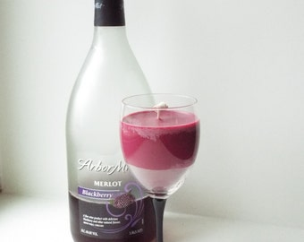 Merlot Wine Glass Candle