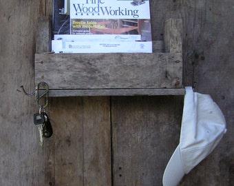 Reclaimed Wood Organizer, Key Holder, Mail organizer .