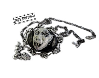 Nosferatu necklace gothic jewelry  classic horror movie jewelry goth choker deathrock gothic vampire necklace psychobilly gothic victorian
