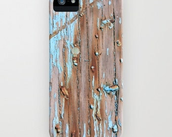 Phone Case - Turquoise Beach Wood II -  for iPhone  5 5s 5c  4 4s 3g 3gs - Samsung Galaxy S4 S5 - beach sand beige blue vintage sea