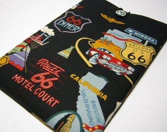 Macbook Air Sleeve, Macbook Air Cover, 13 inch Macbook Air Cover, 13 inch Macbook Air Case, Laptop Sleeve, Route 66