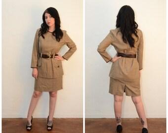 Vintage Plaid Secretary Dress