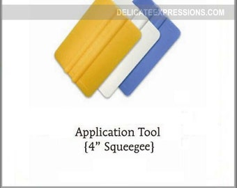 "4"" Squeegee - Vinyl Application Tool - Vinyl Squeegee - Vinyl Tool for Decals Graphics"
