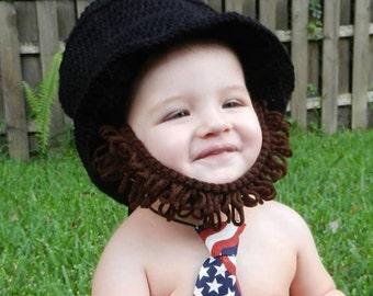 Abraham Lincoln Abe Beard Hat