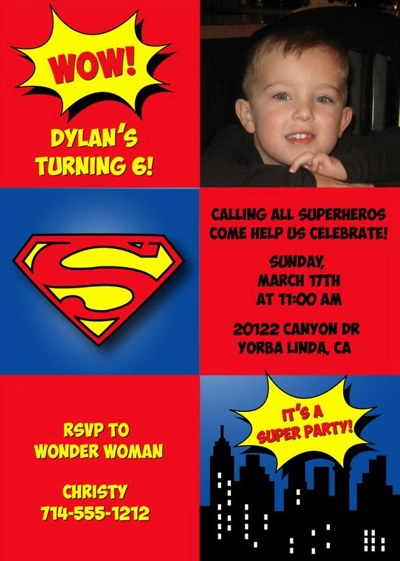 Tarjetas Invitación Cumpleaños Superman Imagui Imagui