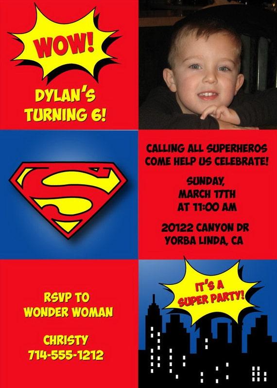 Invitaciones de Superman para imprimir - Imagui