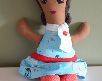 Hand-made cloth Maya Doll