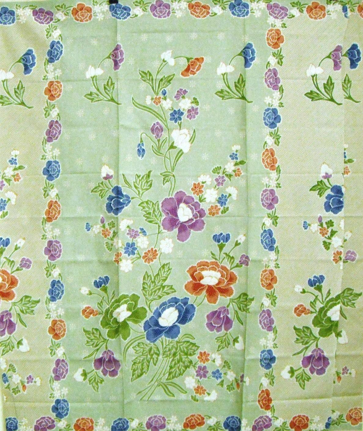 Colourful Malaysian Floral Batik Sarong Cotton Fabric