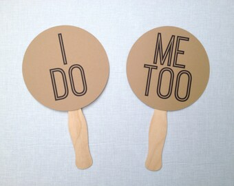 I Do, Me Too Photo Booth Props - Wedding Photo Booth Props - Wedding Reception - Mr. and Mrs.