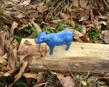 Cow Blue Cast Iron paperweight doorstop knick knack
