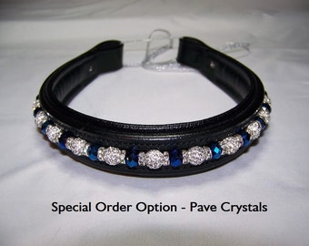 Oversize Beaded Browband - Fully custom with interchangeable beads
