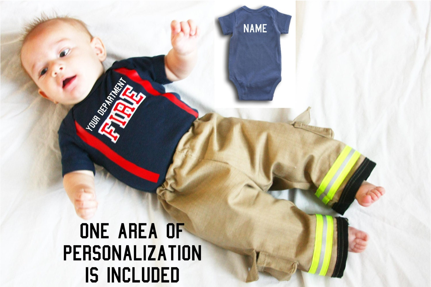 READY to SHIP Personalized Firefighter Outfit by