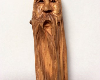 Wood Spirit Carving Pine Driftwood Woodland Creature