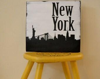 New York City Skyline - City Skyline Art - Silhouette Art