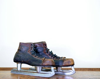 Vintage Hockey Skates Vintage Ice Skates Leather Hockey