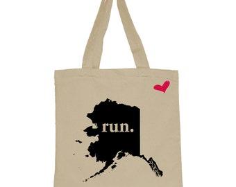 RUN Alaska Canvas Tote Bag