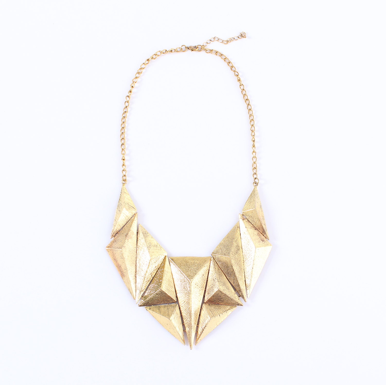 chunky gold statement necklace chunky gold by