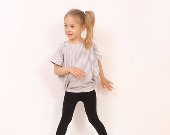 Childrens sewing patterns - Easy Reversible Simple TUNIC pattern - girls top patterns pdf - 2T to 10 years