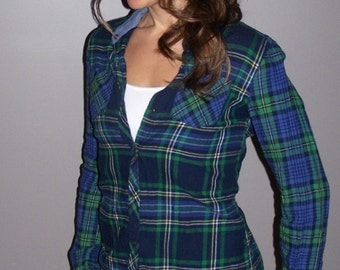 hand tailored women's flannel shirt