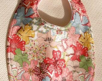 Liberty of London  Cotton Baby Bib Pastel Flowers