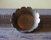 Solid Brass, Small Trinket Bowl, Dish, Notre Dame, ND University, Vintage