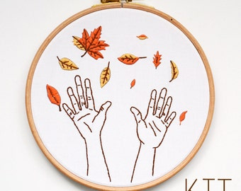 "Embroidery Kit ""Autumn Leaves"""