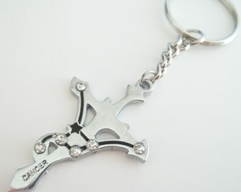 Cancer Stainless Steel Keychain
