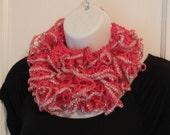 LYI24 Lace Yarn Infinity Scarf (Hot Pink, Silver) FREE SHIPPING