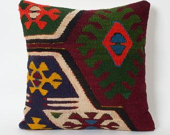 kilim pillow cover 16x24 decorative kilim pillows red