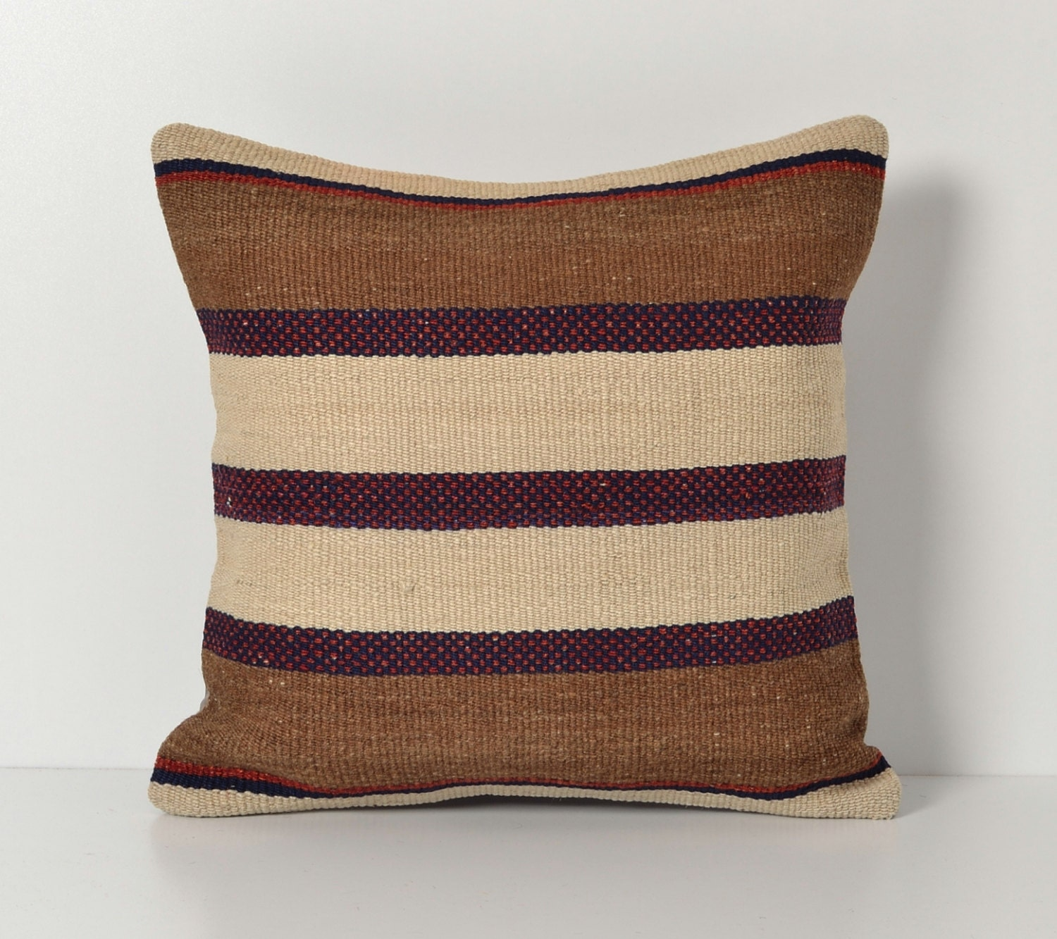 Turkish Throw Pillow Covers : Turkish Kilim Pillow Covers Handwoven Modern Striped by pillowme