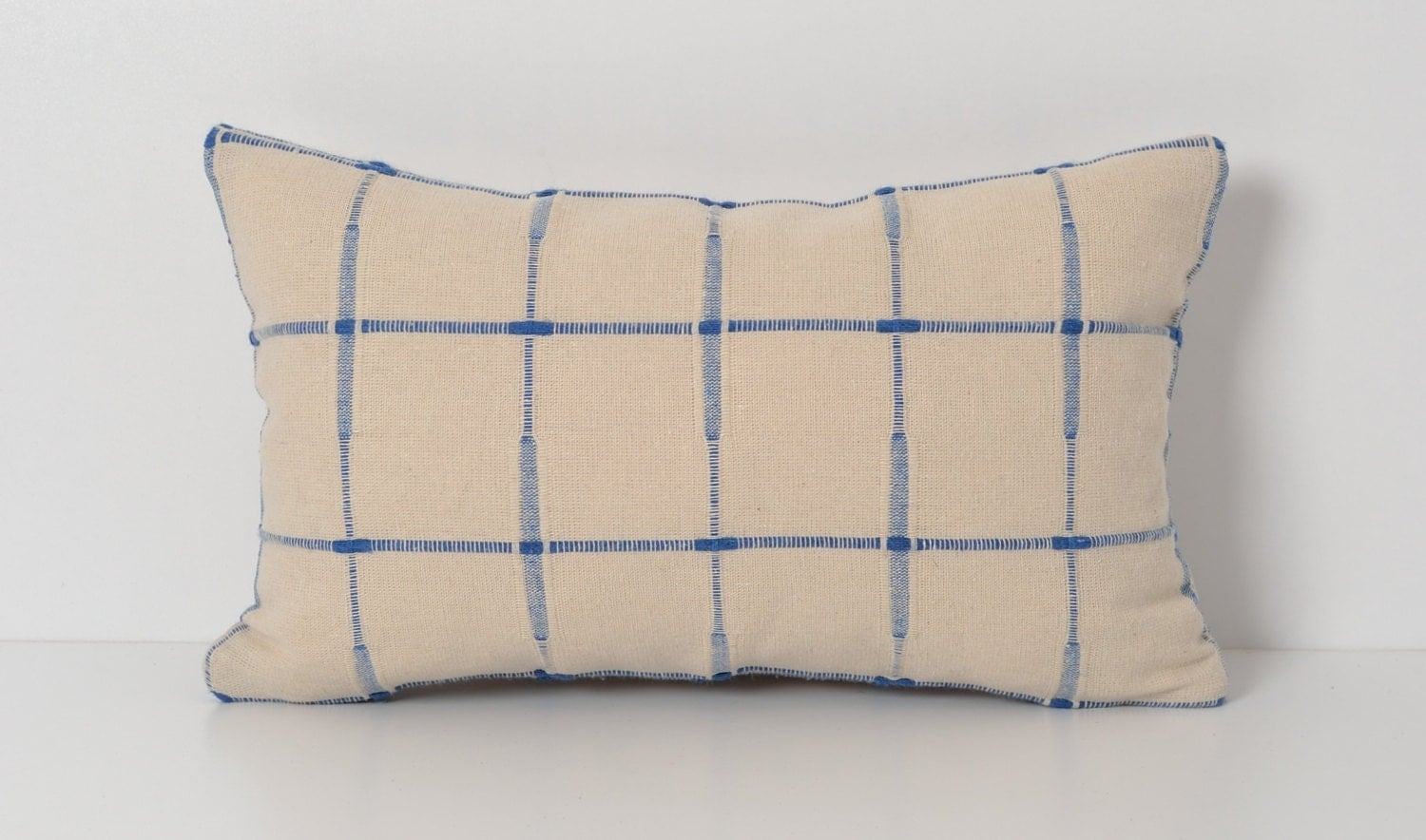 Decorative Plaid Pillows : Decorative Modern Plaid Pillow Cover 10x16 inch Ivory by pillowme