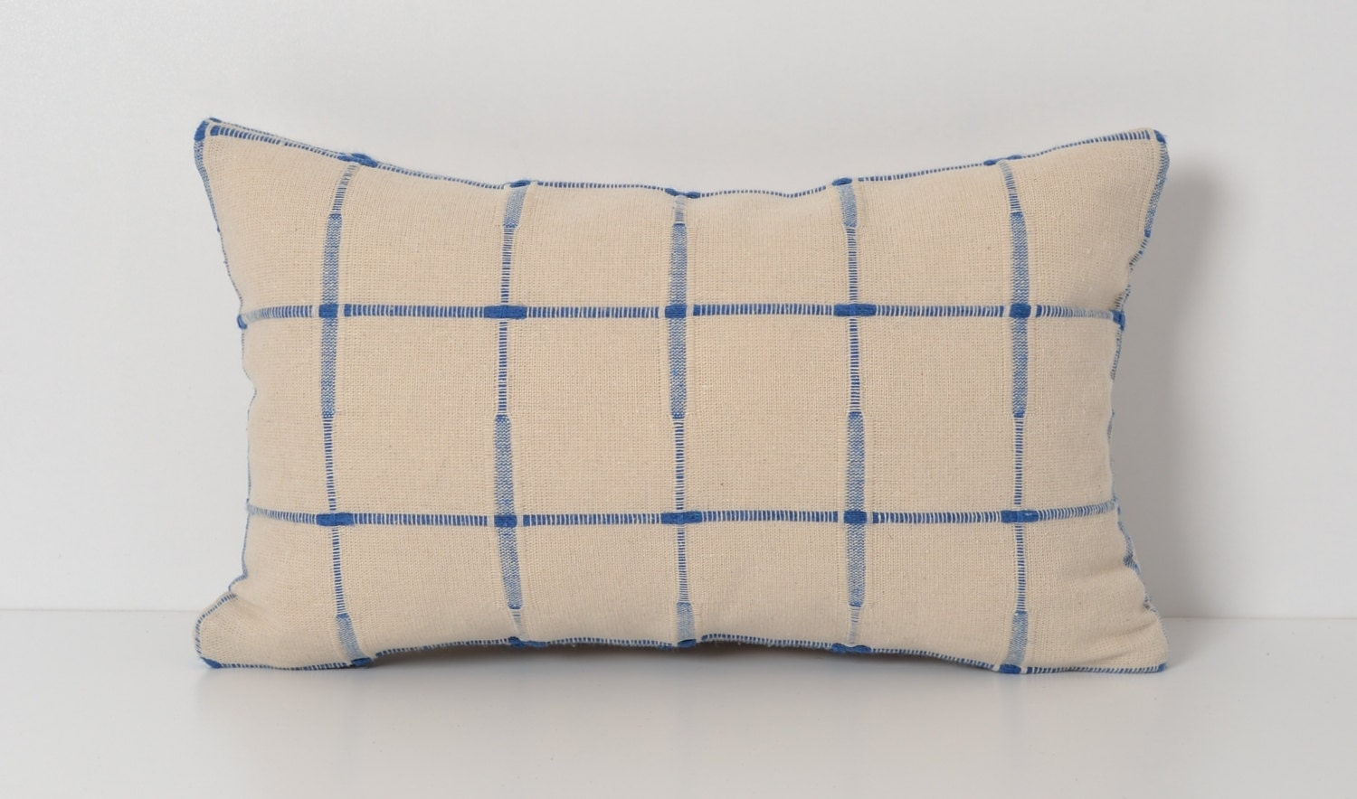 Modern Plaid Pillow : Decorative Modern Plaid Pillow Cover 10x16 inch Ivory by pillowme