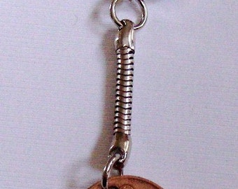 1980 1p One Pence Penny Pingin Irish Coin Keyring Key Chain Fob 37th Birthday