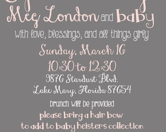 Baby Girl Sprinkle Invitation Digital File