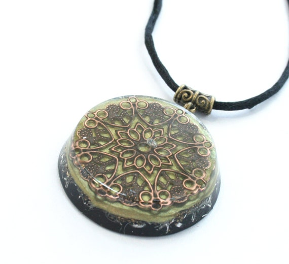Electromagnetic Radiation Protection Necklace: Orgonite Pendant Necklace With Ormus EMF Protection And