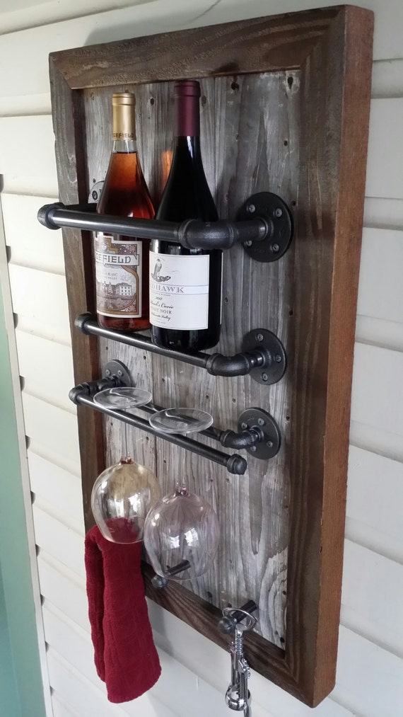 barnwood wine rack wine rack reclaimed wood barn wood industrial pipe 1489