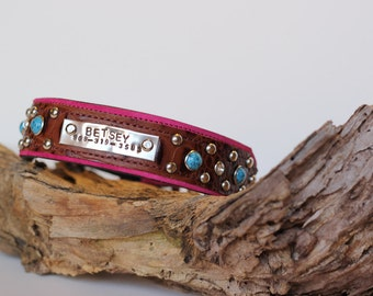 Popular items for dog collar name on Etsy