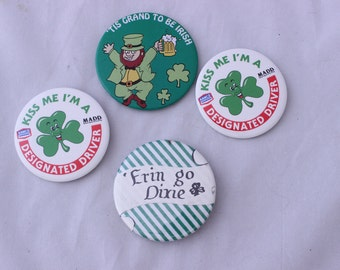 St Patrick's Day Buttons, St. Patrick's Day Flair, Irish Flair